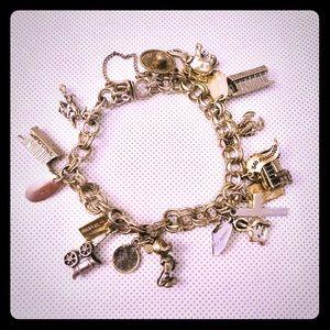 Vintage Sterling Charms Bracelet